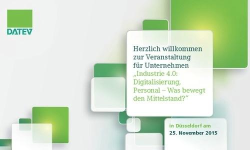 Stefan F. Gross und Datev - Veranstaltung für Unternehmen am 25.11.2015 in Düsseldorf